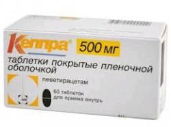 Кеппра, табл. п/о пленочной 500 мг №60