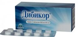 Дибикор, табл. 500 мг №60